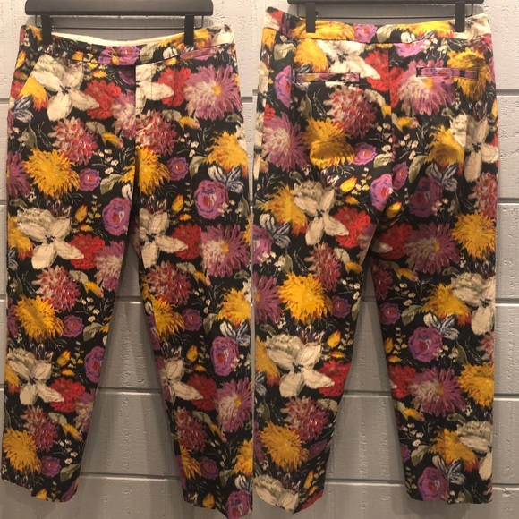 Anthropologie Pants - Elevenses Anthropologie Fall Floral Pants Meas!